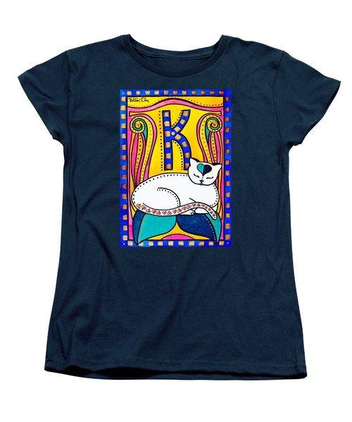 Peace And Love - Cat Art By Dora Hathazi Mendes Women's T-Shirt (Standard Cut)