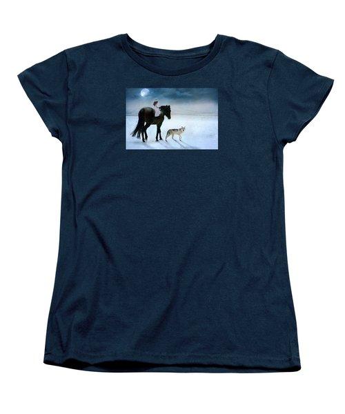 Peace On Earth Women's T-Shirt (Standard Cut) by Dorota Kudyba