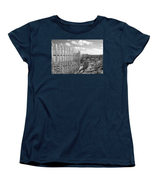 Women's T-Shirt (Standard Cut) featuring the photograph Peaceful Beach Scene by Denise Pohl