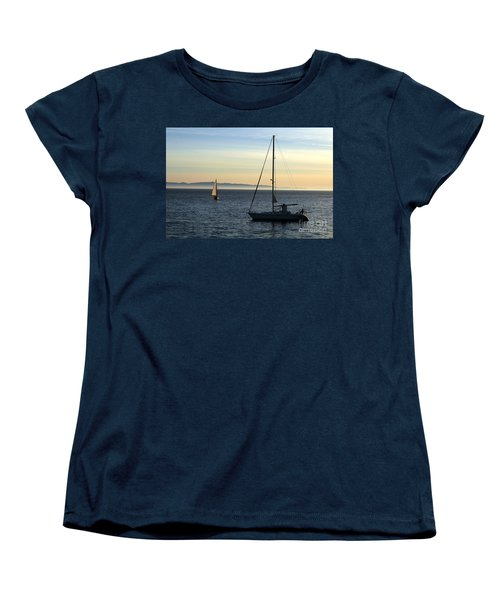 Peaceful Day In Santa Barbara Women's T-Shirt (Standard Cut) by Clayton Bruster
