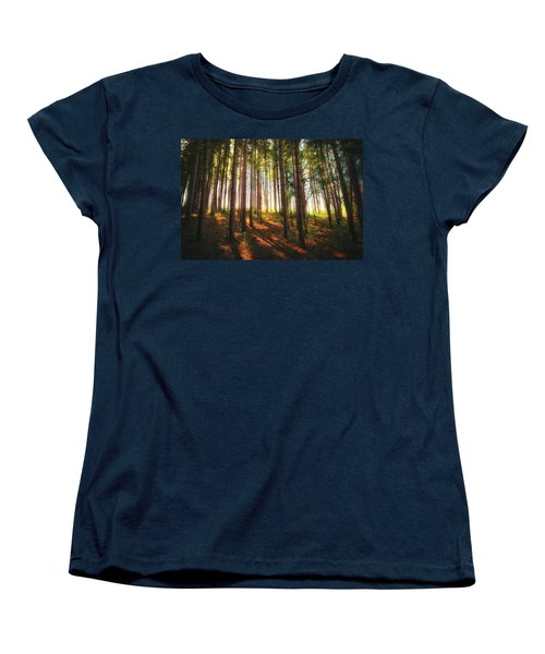 Peaceful Wisconsin Forest 2 - Spring At Retzer Nature Center Women's T-Shirt (Standard Cut) by Jennifer Rondinelli Reilly - Fine Art Photography