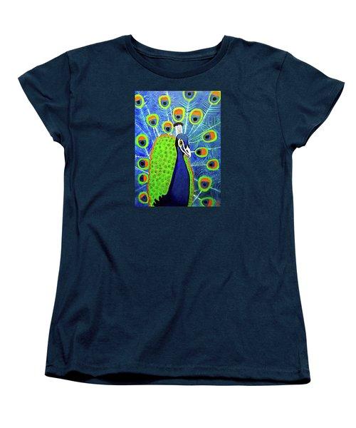 Peacock #3 Women's T-Shirt (Standard Cut) by Margaret Harmon