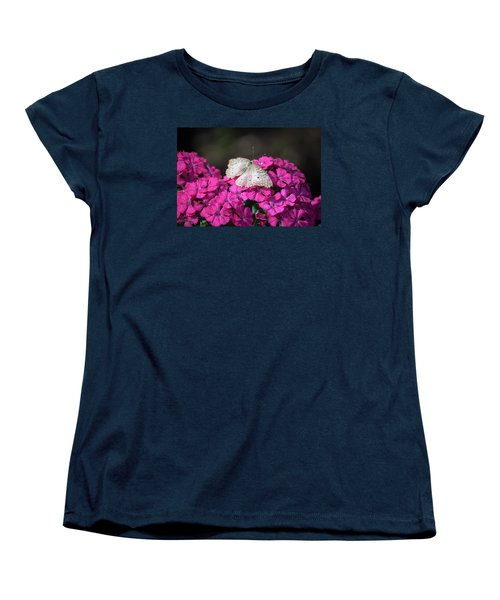 Peacock Butterfly On Fuchsia Phlox Women's T-Shirt (Standard Cut) by Suzanne Gaff
