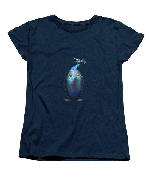 Peacock Vase Women's T-Shirt (Standard Cut) by Keshava Shukla