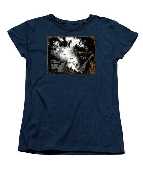 Pearl Jam Ten Women's T-Shirt (Standard Cut) by Michael Damiani