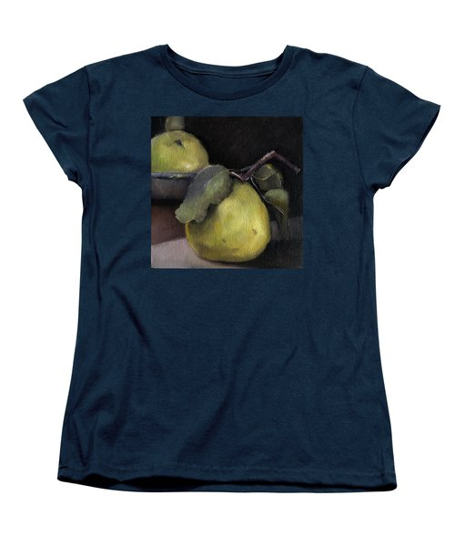 Pears Stilllife Painting Women's T-Shirt (Standard Cut) by Michele Carter