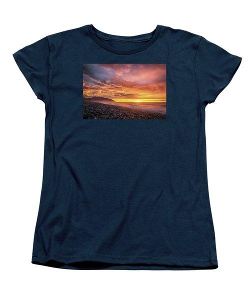 Pebble Beach Sunrise Women's T-Shirt (Standard Cut) by Martin Capek