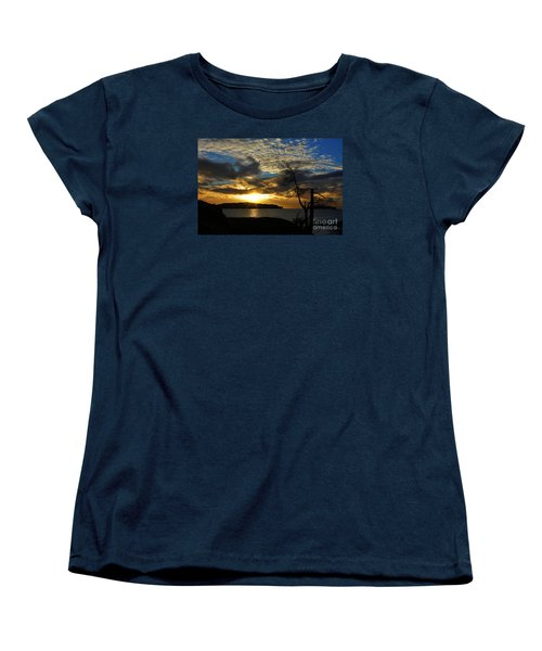 Pebbles  Beach Sechelt  Women's T-Shirt (Standard Cut) by Elaine Hunter