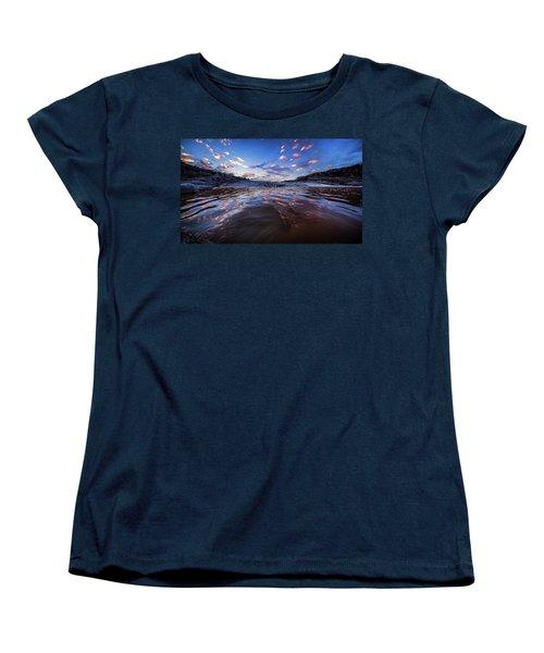 Peddernales Falls Sunset #1 Women's T-Shirt (Standard Cut) by Micah Goff