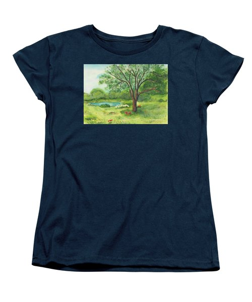 Women's T-Shirt (Standard Cut) featuring the painting Pedro's Tree by Vicki  Housel