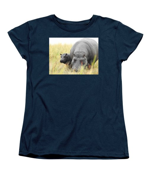 Women's T-Shirt (Standard Cut) featuring the photograph Peek by Betty-Anne McDonald