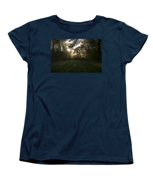 Women's T-Shirt (Standard Cut) featuring the photograph Peeking Through by Annette Berglund