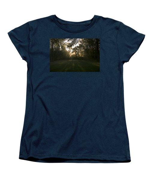 Peeking Through Women's T-Shirt (Standard Cut) by Annette Berglund