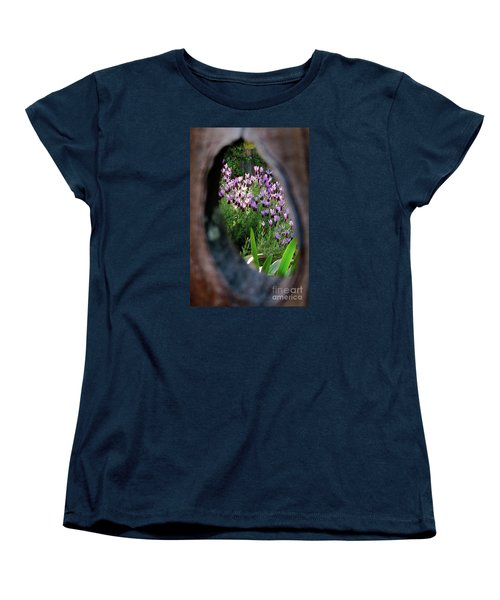 Peephole Garden Women's T-Shirt (Standard Cut) by CML Brown