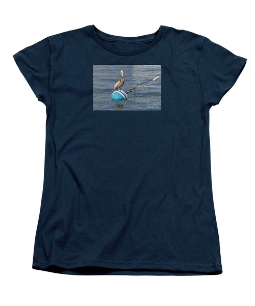 Pelican On A Buoy Women's T-Shirt (Standard Cut)