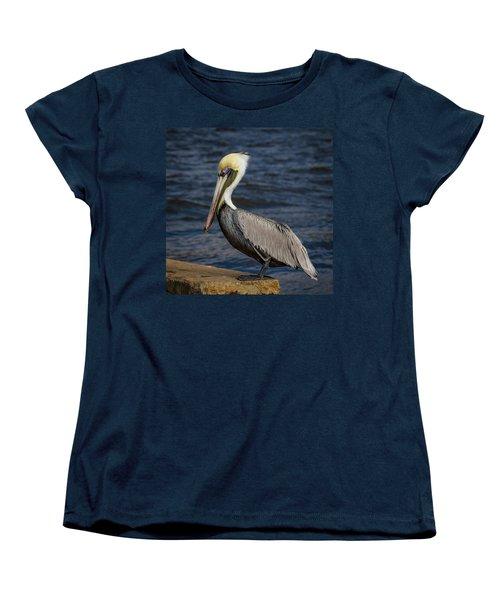 Women's T-Shirt (Standard Cut) featuring the photograph Pelican Profile 2 by Jean Noren