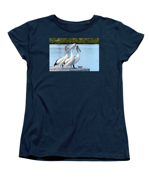 Pelicans 6663. Women's T-Shirt (Standard Cut) by Kevin Chippindall