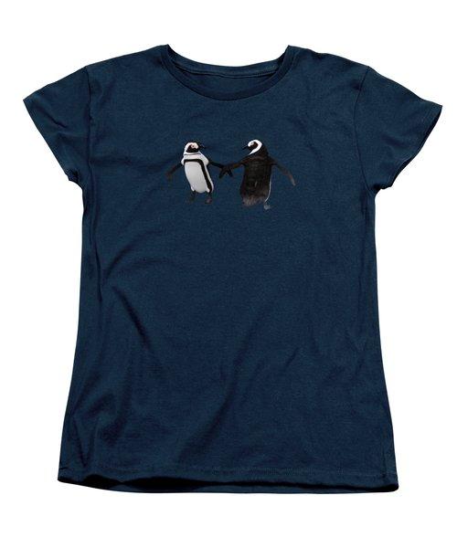 Women's T-Shirt (Standard Cut) featuring the digital art Penguin Dance by Methune Hively