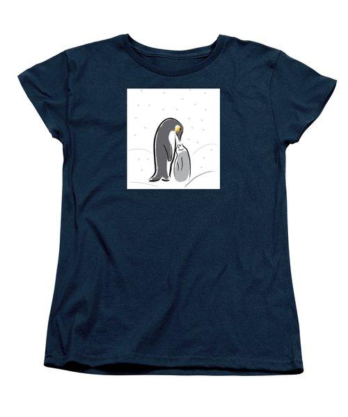 Penguin Feeding Women's T-Shirt (Standard Cut) by Greg Slocum