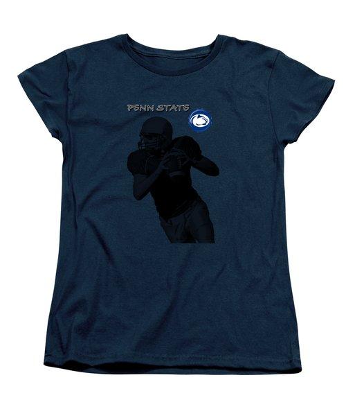 Penn State Football Women's T-Shirt (Standard Cut) by David Dehner