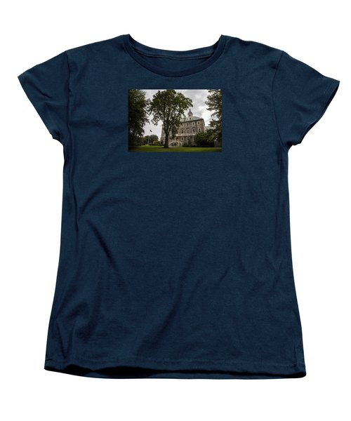 Penn State Old Main And Tree Women's T-Shirt (Standard Cut) by John McGraw
