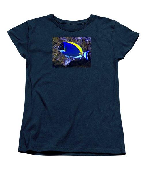 Blue Tang Fish  Women's T-Shirt (Standard Cut) by Kathy M Krause