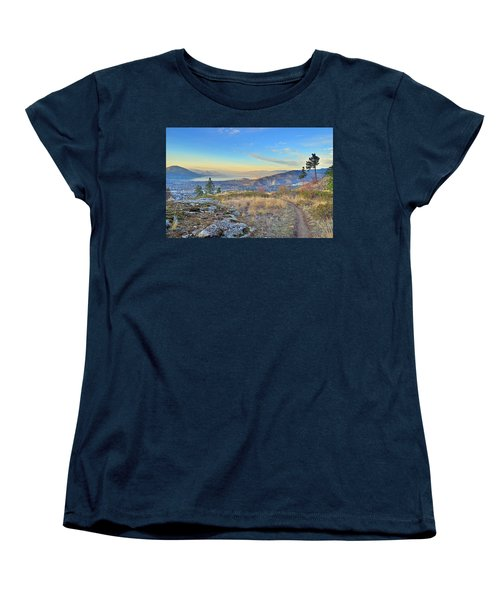 Women's T-Shirt (Standard Cut) featuring the photograph Penticton In The Distance by Tara Turner