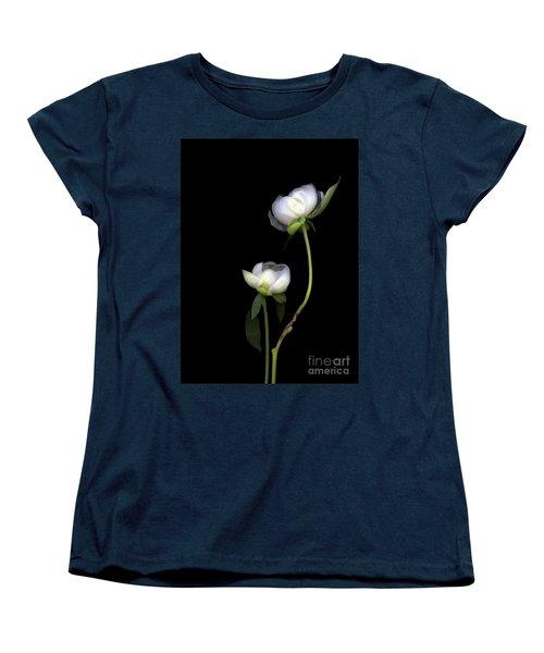 Peonies Women's T-Shirt (Standard Cut) by Christian Slanec