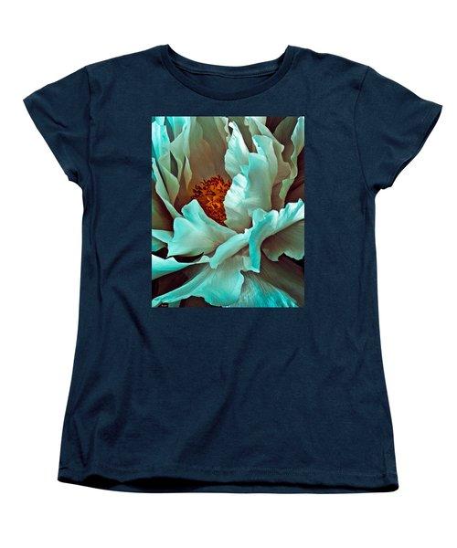 Peony Flower Women's T-Shirt (Standard Cut) by Chris Lord