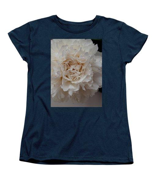 Peony Petals Women's T-Shirt (Standard Cut) by Nancy Kane Chapman