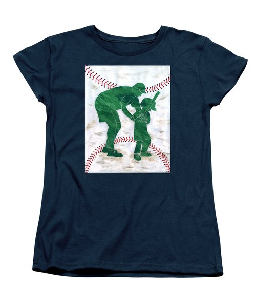 People At Work - The Little League Coach Women's T-Shirt (Standard Cut) by Lori Kingston
