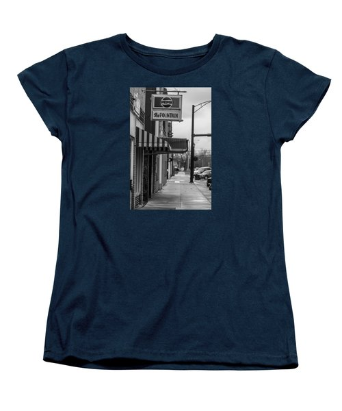 Pepsi The Fountain Sign Women's T-Shirt (Standard Cut)