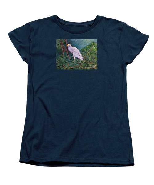 Perched On High Women's T-Shirt (Standard Cut) by Laura Forde