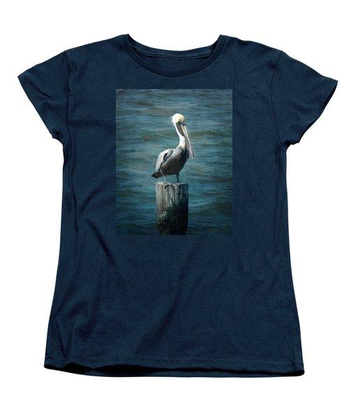 Perched Pelican Women's T-Shirt (Standard Cut) by Carla Parris