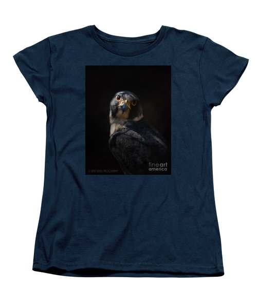 Peregrine Falcon Women's T-Shirt (Standard Cut) by Kathy Russell