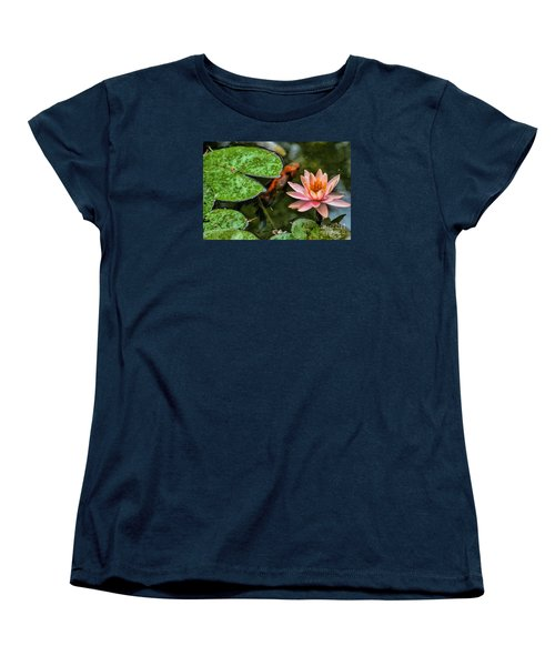 Perfect Beauty And Koi Companion Women's T-Shirt (Standard Cut) by Diana Mary Sharpton