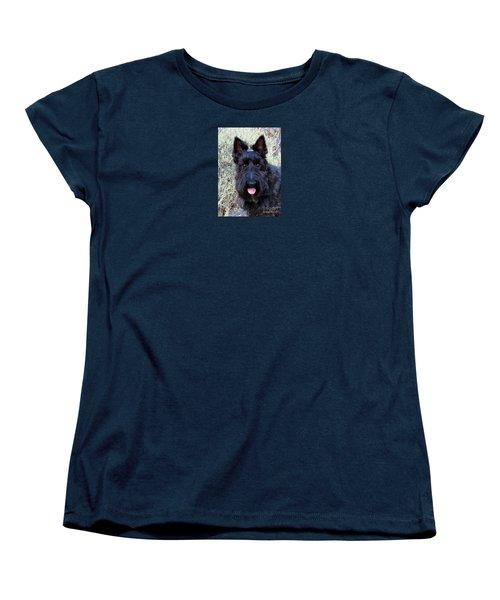 Women's T-Shirt (Standard Cut) featuring the photograph Scottish Terrier Portrait by Michele Penner