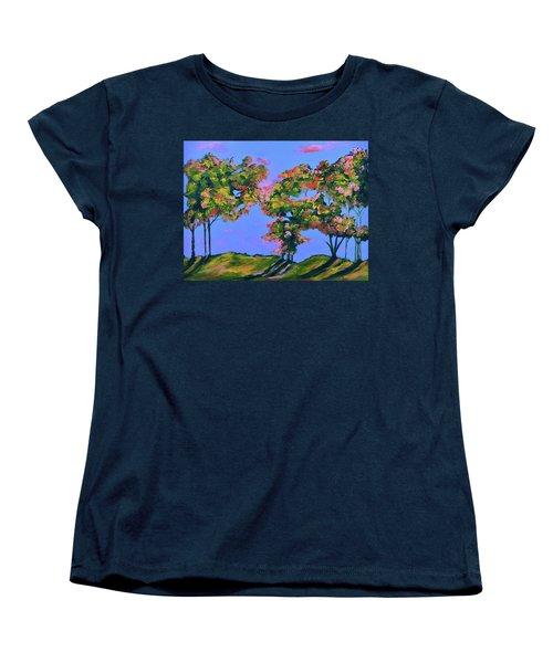 Periwinkle Twilight Women's T-Shirt (Standard Cut) by Donna Blackhall