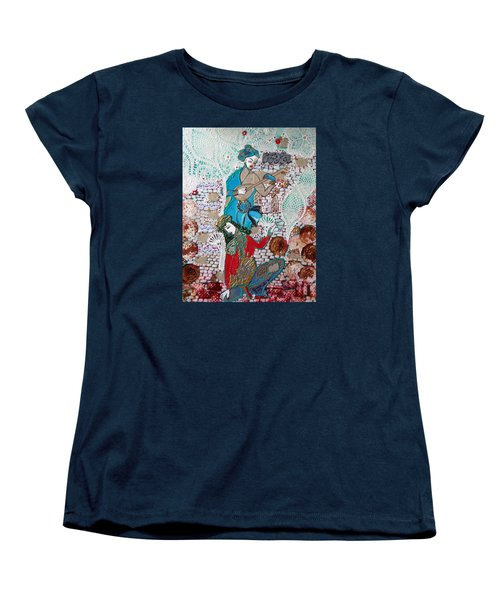 Women's T-Shirt (Standard Cut) featuring the painting Persian Painting # 1 by Sima Amid Wewetzer