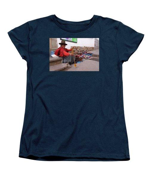 Peruvian Weaver Women's T-Shirt (Standard Cut) by Aidan Moran