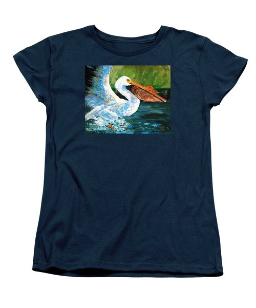 Women's T-Shirt (Standard Cut) featuring the painting Pete Coming In For A Landing by Suzanne McKee