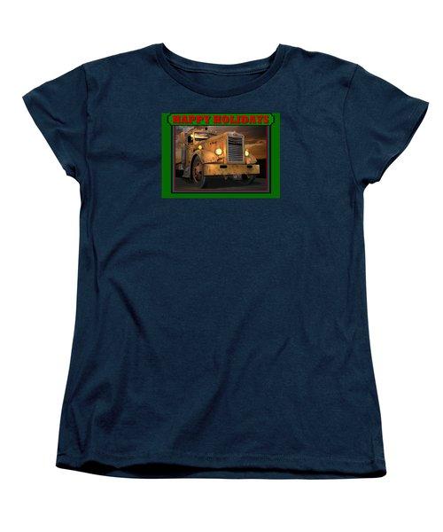 Pete Ol' Yeller Happy Holidays Women's T-Shirt (Standard Cut) by Stuart Swartz
