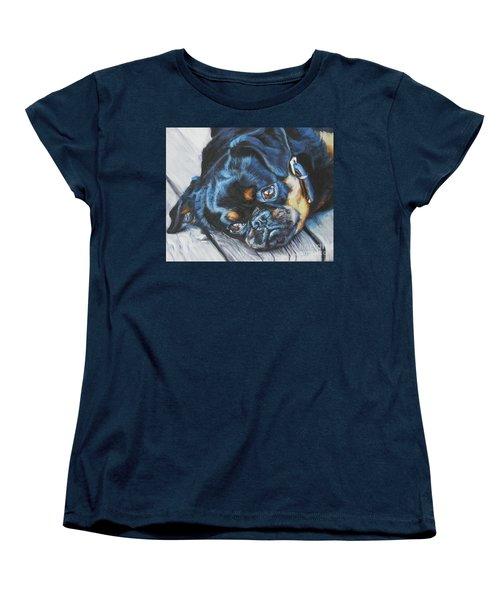 Petit Brabancon Brussels Griffon Women's T-Shirt (Standard Cut) by Lee Ann Shepard