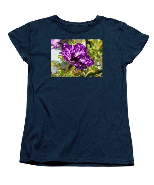 petunia nightsky,Helloween colors  Women's T-Shirt (Standard Cut) by Tamara Sushko