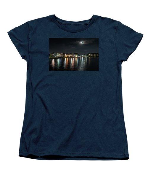 Pewaukee At Night Women's T-Shirt (Standard Cut) by Randy Scherkenbach