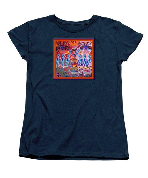 Peyote Shaman Hunting Ritual Women's T-Shirt (Standard Cut) by Vagabond Folk Art - Virginia Vivier