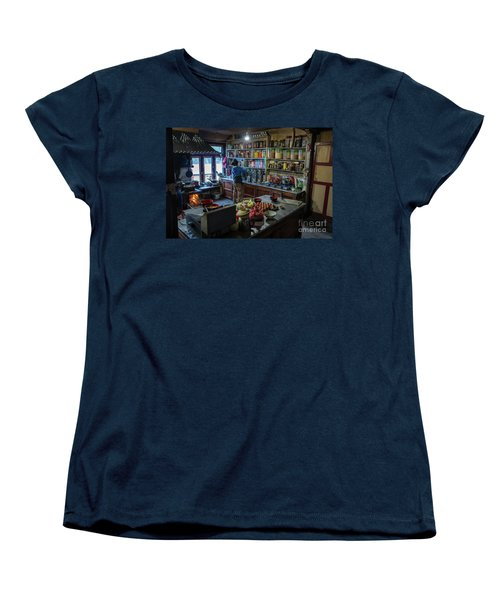 Women's T-Shirt (Standard Cut) featuring the photograph Phakding Teahouse Kitchen Morning by Mike Reid