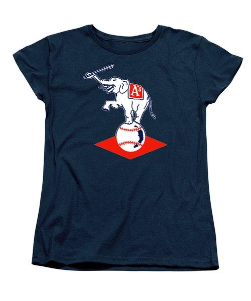 Philadelphia Athletics Retro Logo Women's T-Shirt (Standard Cut) by Spencer McKain