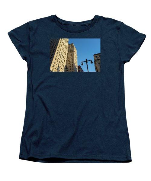Women's T-Shirt (Standard Cut) featuring the photograph Philadelphia Urban Landscape - 0948 by David Sutton