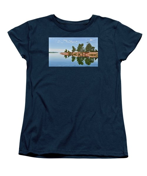Women's T-Shirt (Standard Cut) featuring the painting Philip Edward Island by Kenneth M Kirsch